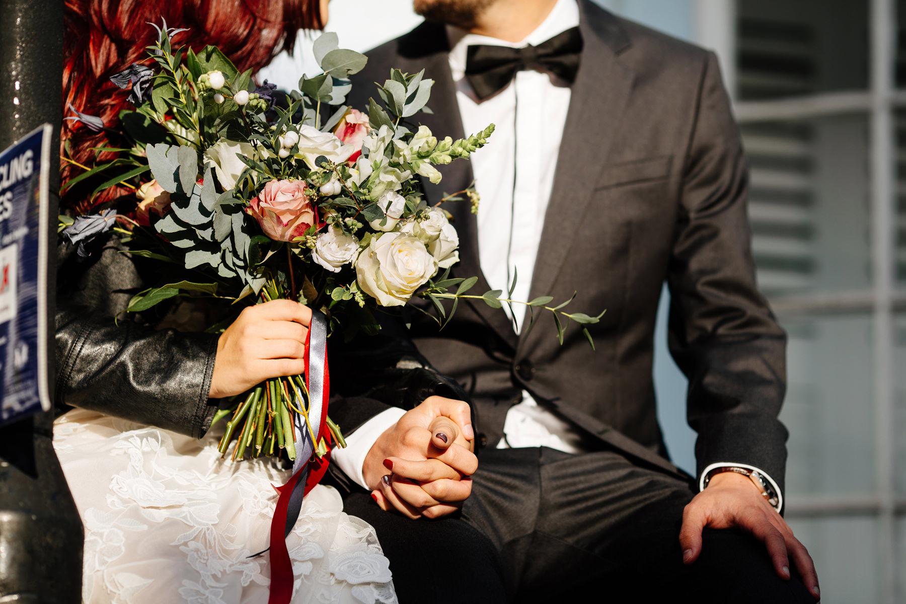 zdjęcia ślubne w mieście