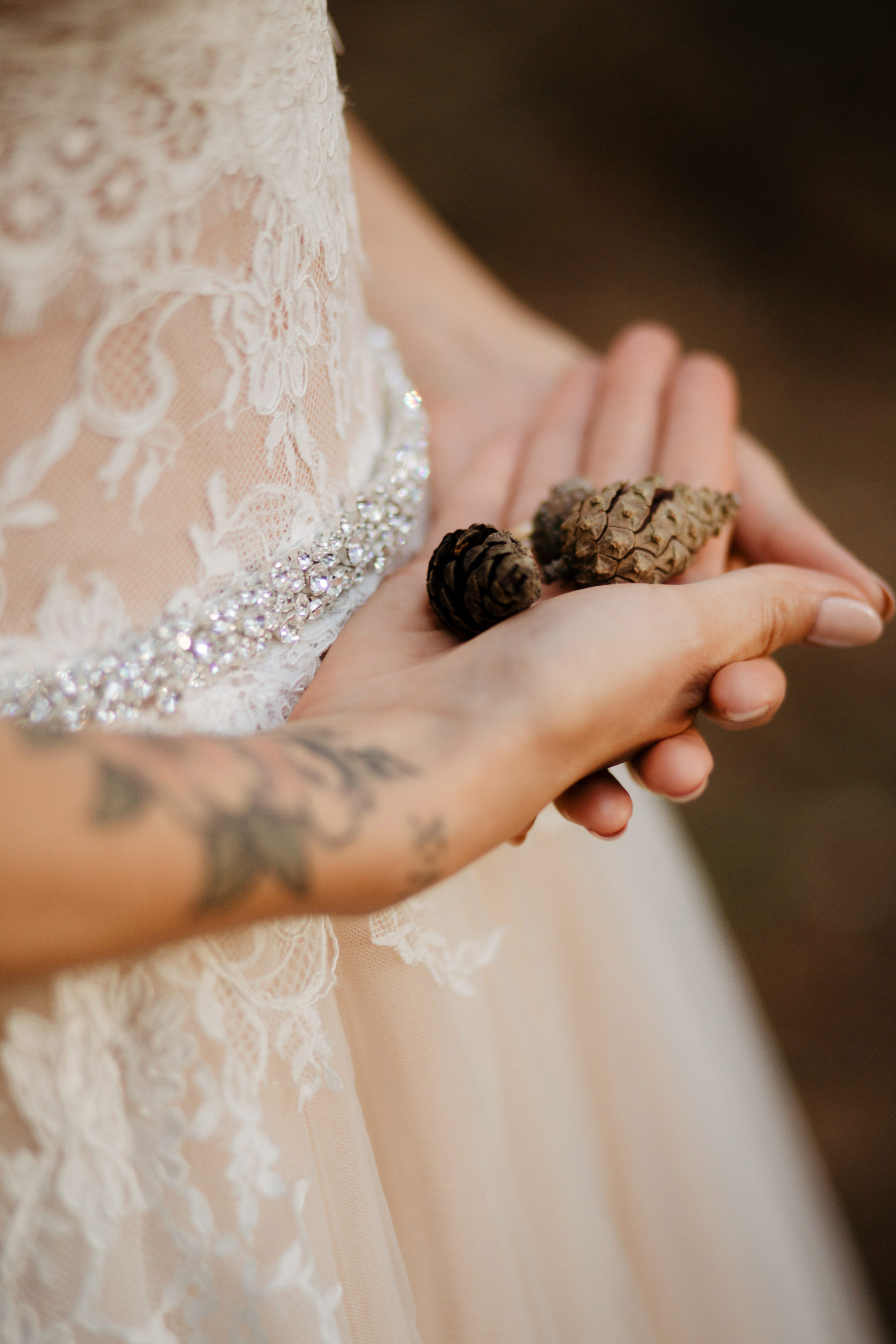 leśne detale ślubne