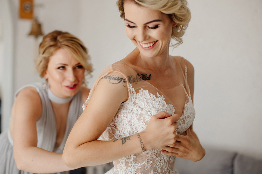 przygotowania ślubne panny młodej, kasia i tomek fotografia