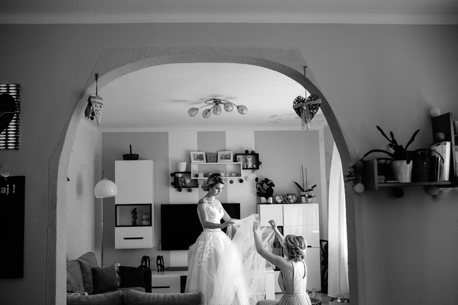 przygotowania w domu panny młodej
