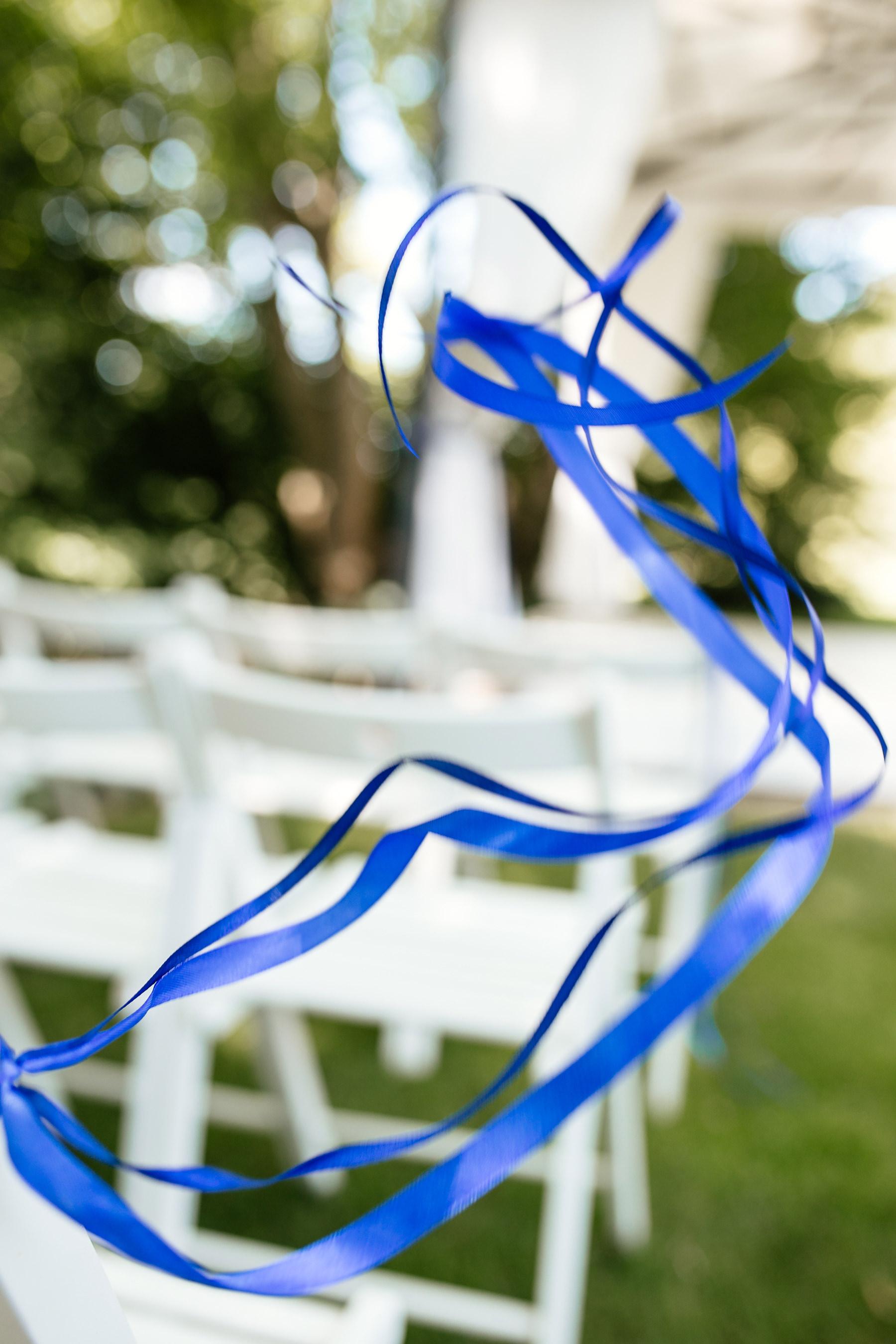 ślub plenerowy biała wstążka czepino