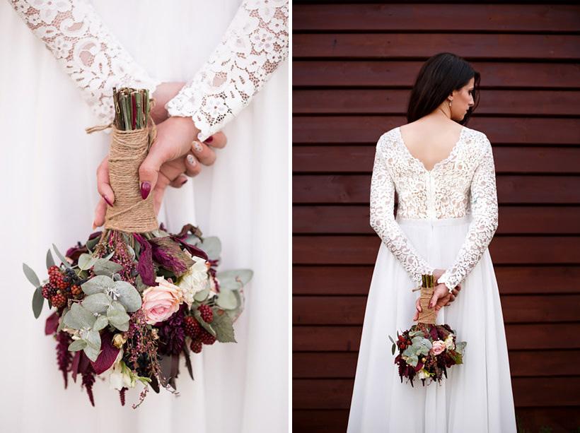 bukiet ślubny boho kwiatowa uliczka