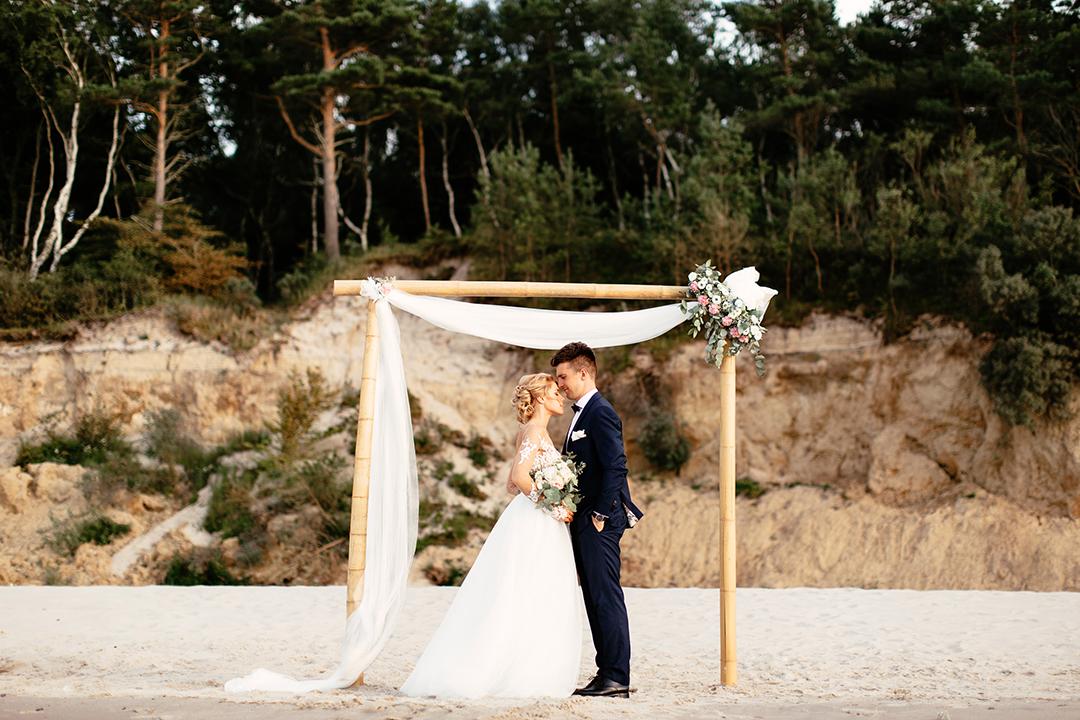 zdjęcia ślubne szczecin, ślub nad morzem