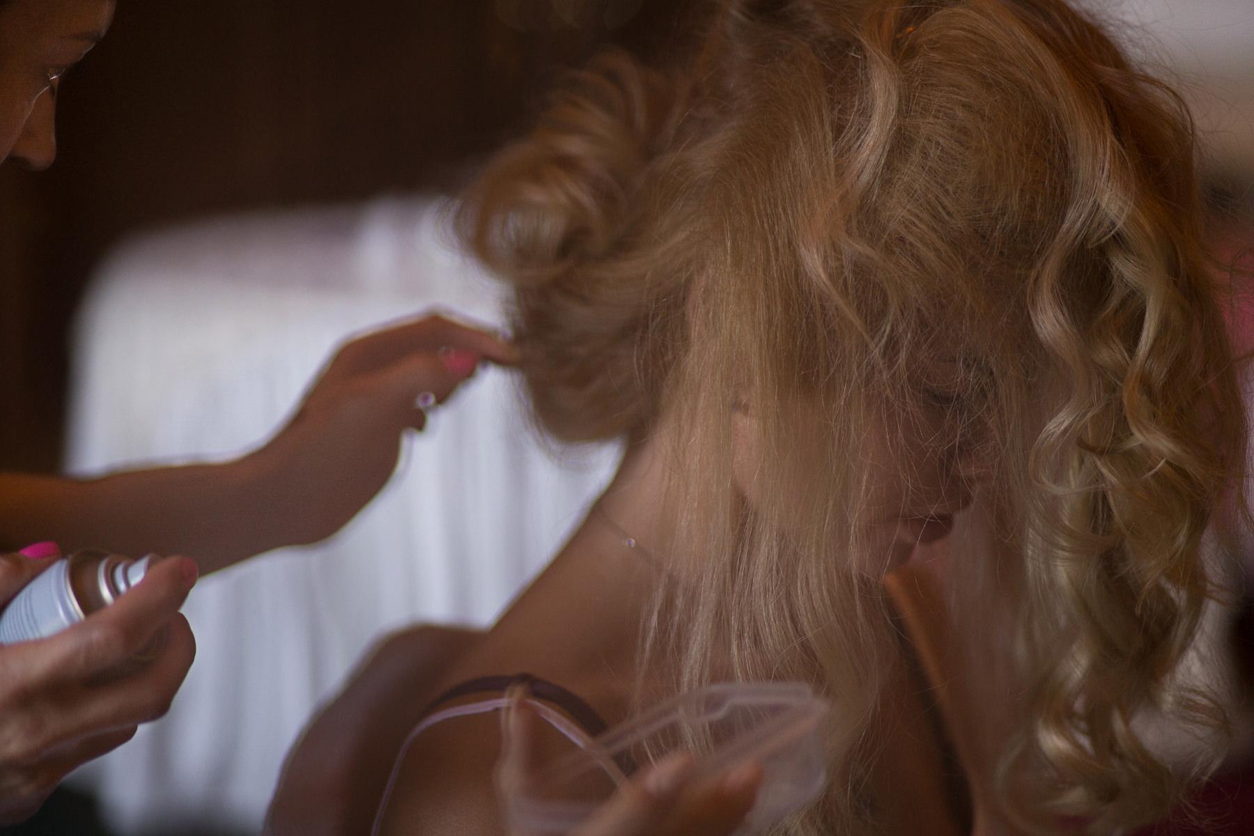 Fryzura przed ślubem