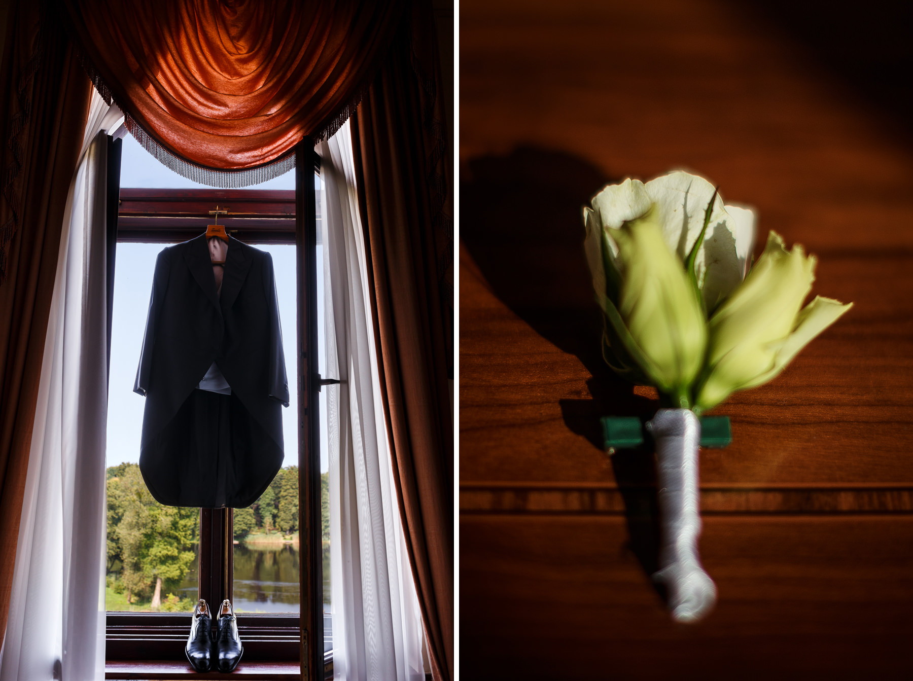 Surdut do ślubu Pałac w Strzekęcinie