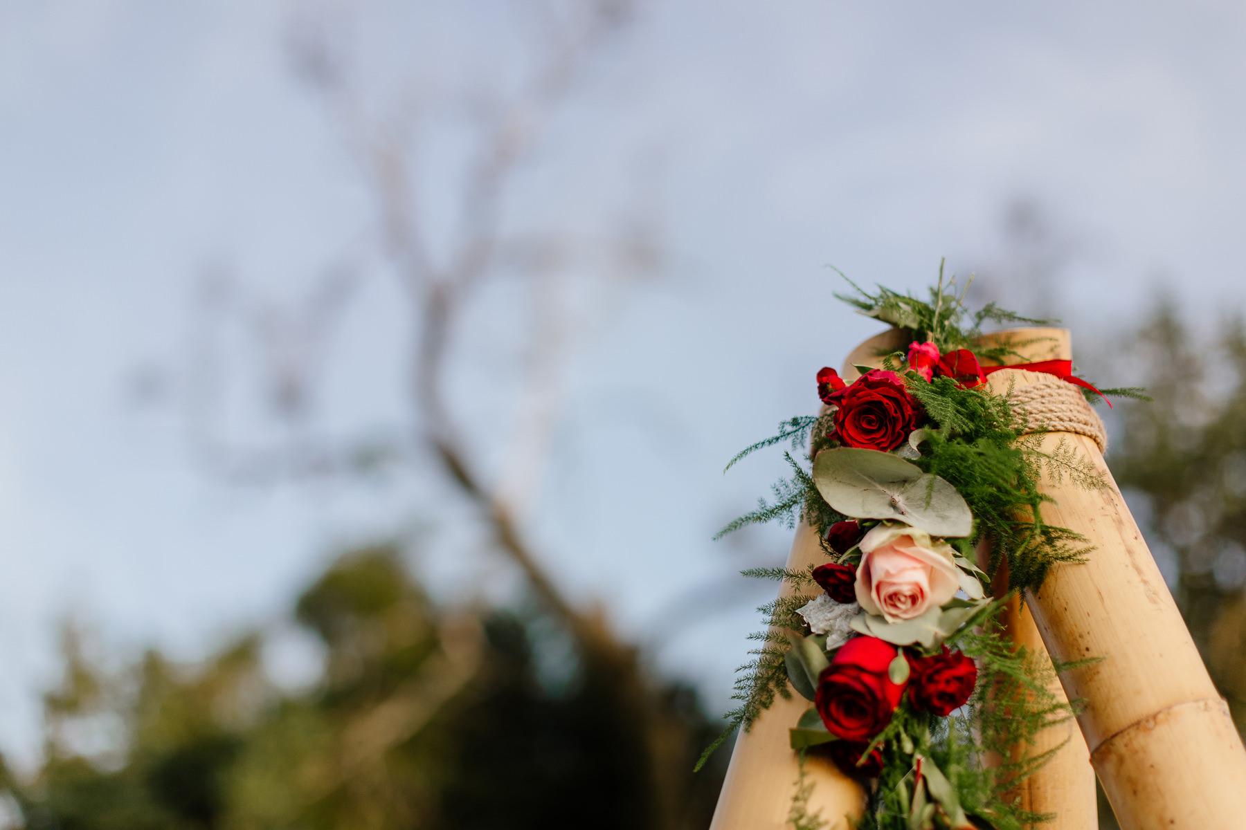 sesja ślubna boho tipi