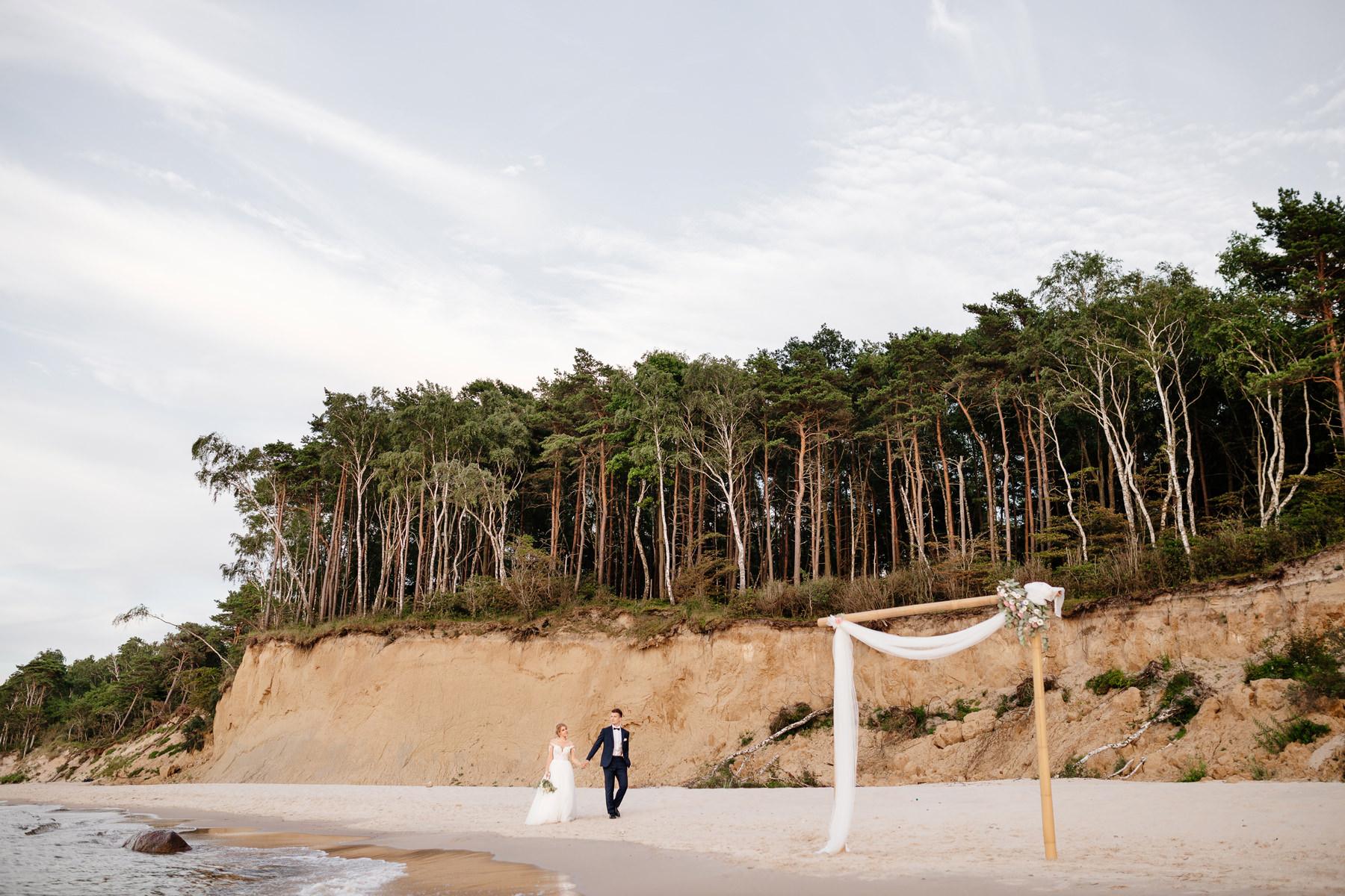 sesja ślubna nad morzem, bałtyckie plaże