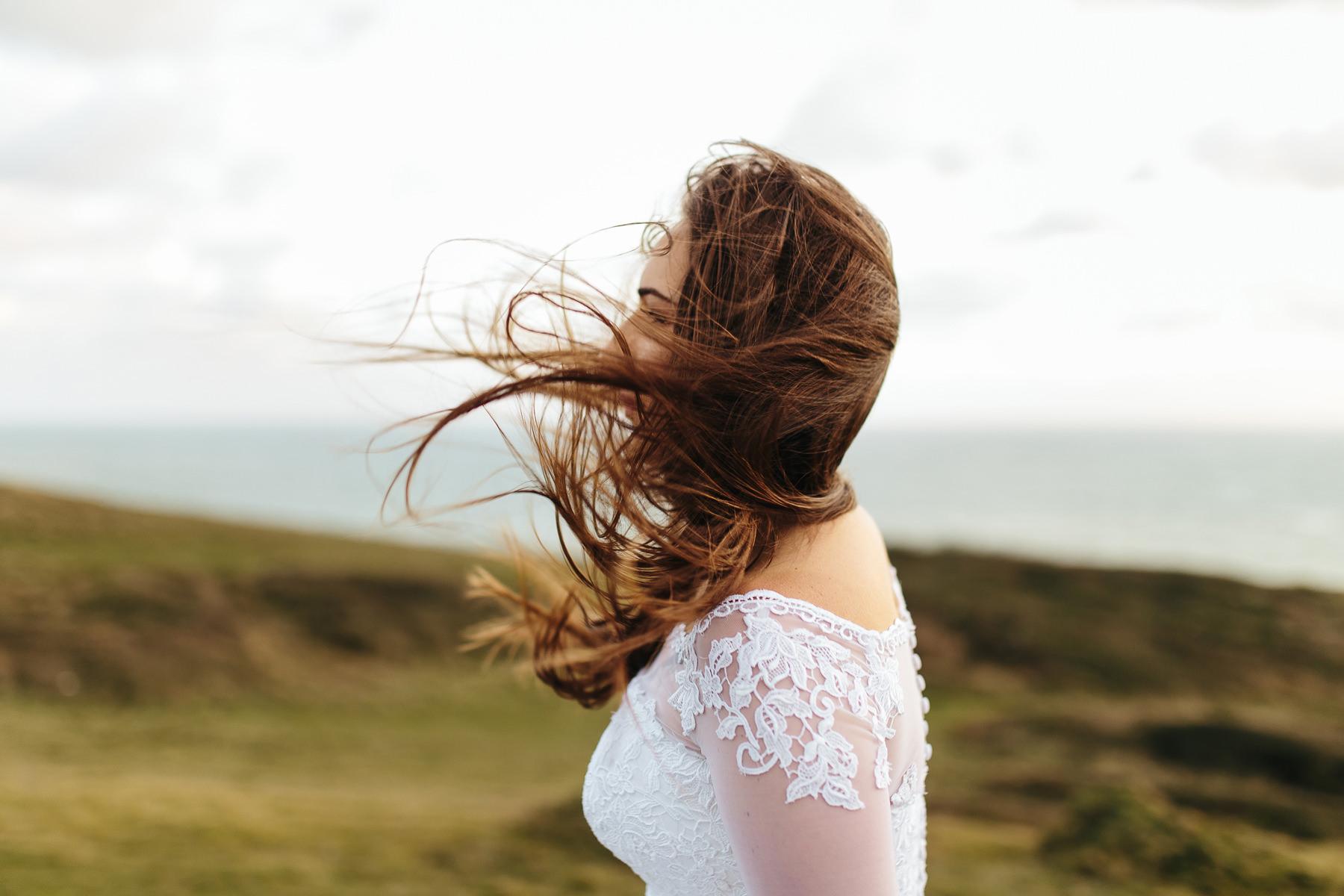 magiczna sesja ślubna nad morzem