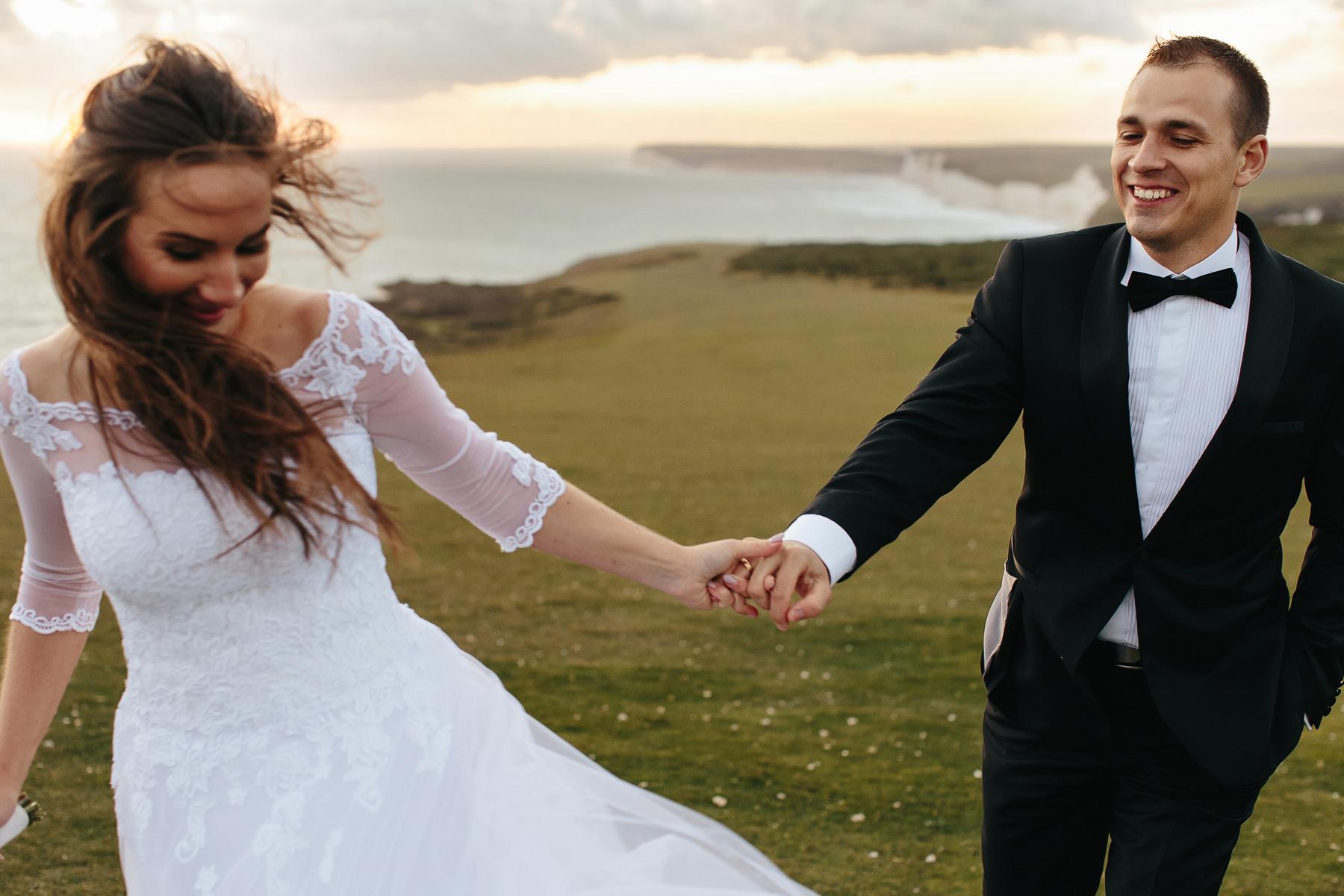 sesja ślubna na angielskim wybrzeżu