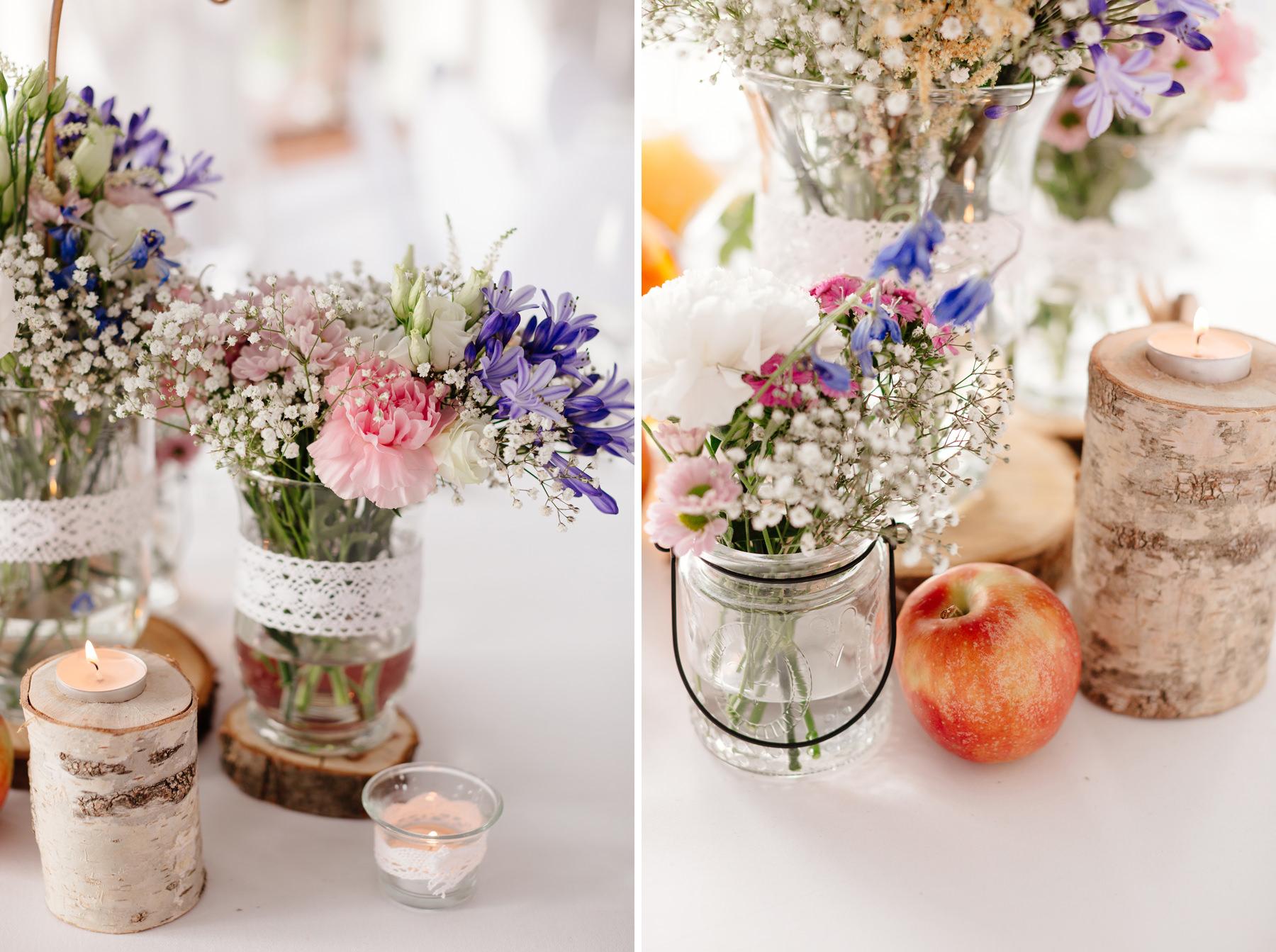 drewniane dekoracje na ślub, dekoracje ślubne szczecin motywy