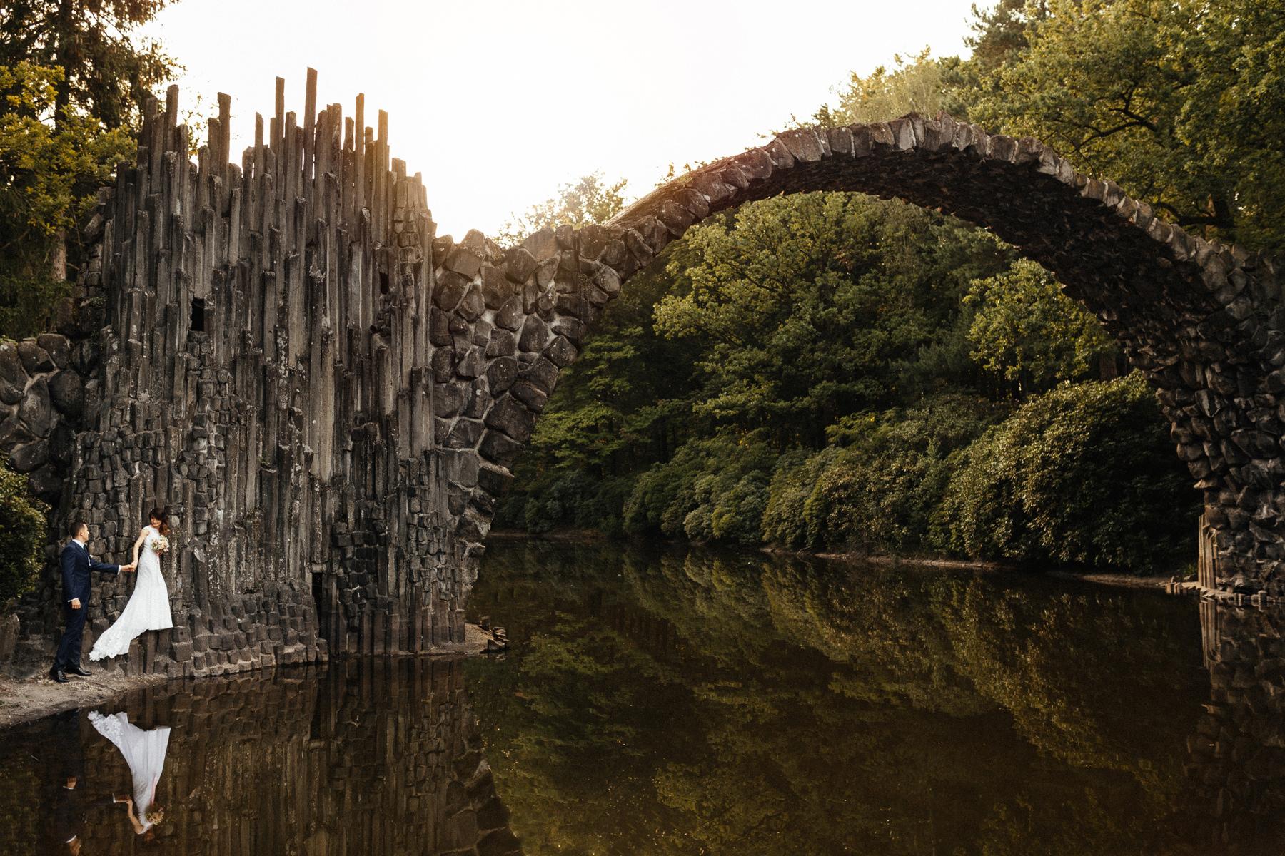 park rododendronów kromlau, most rakotz