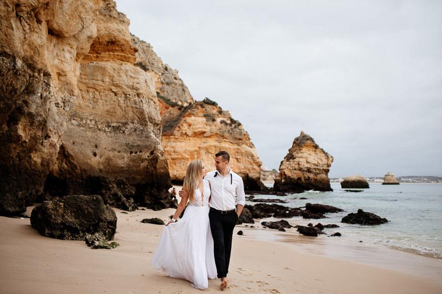 ślub na plaży, portugalia ślub na plaży