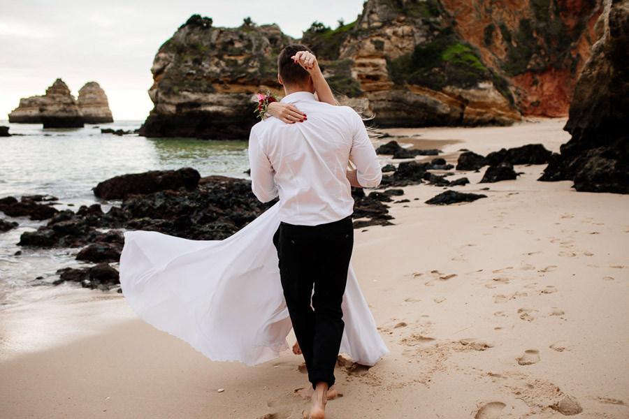 portugalia ślub na plaży