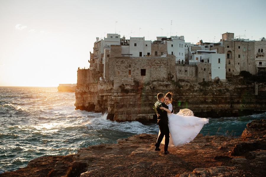 ślub polignano a mare, polignano