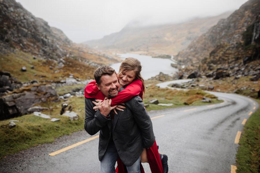 sesja partnerska w irlandii, killarney national park
