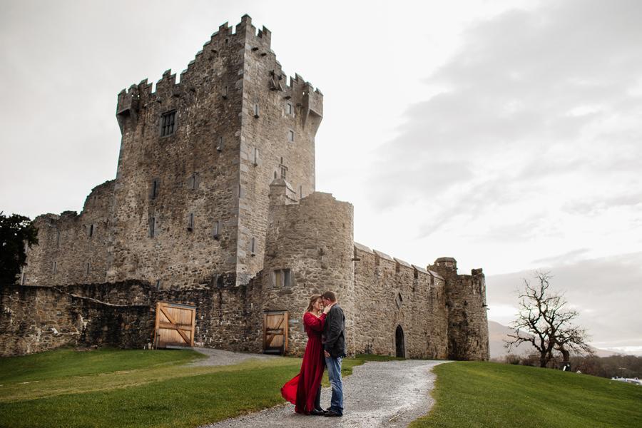 zamek ross killarney irlandia sesesja ślubna w irlandii, kasia i tomek fotografiasja ślubna