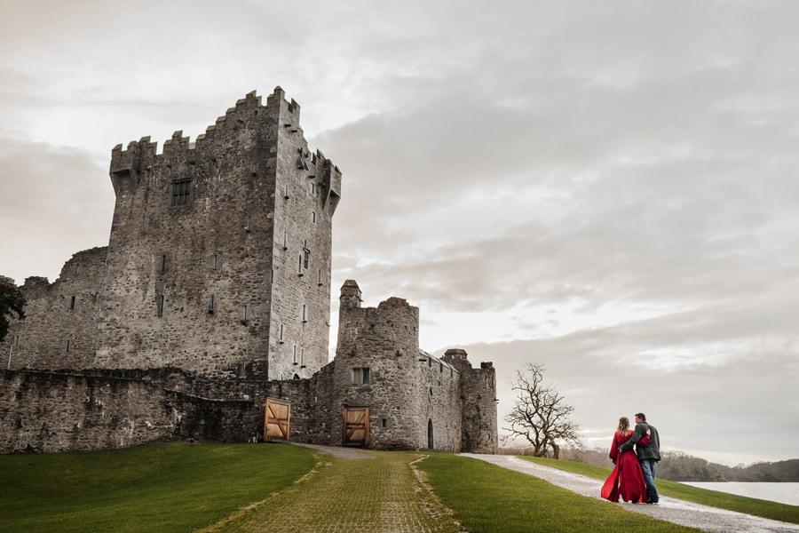 zamek ross irlandia, sesja ślubna w irlandii kasia i tomek