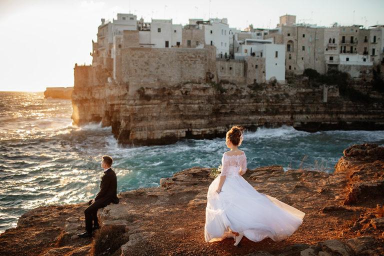 Sesja ślubna we Włoszech - Polignano a Mare. Kasia i Tomek Fotografia