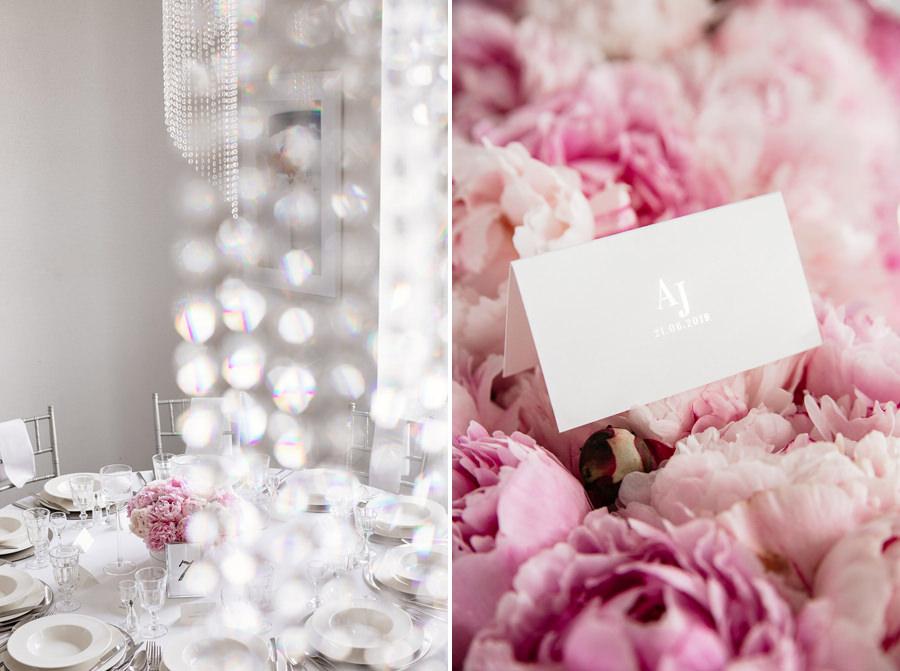piwonie dekoracje ślubne