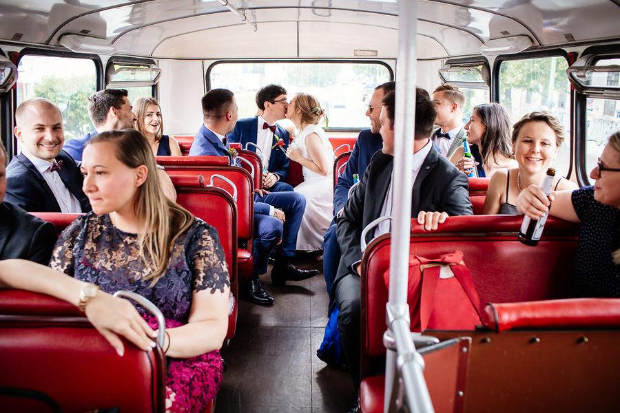 Przejazd autobusem w dniu ślubu Berlin