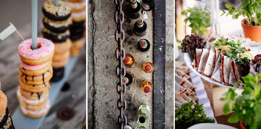 Dekoracje - miejskie wesele w stylu industrialnym Berlin