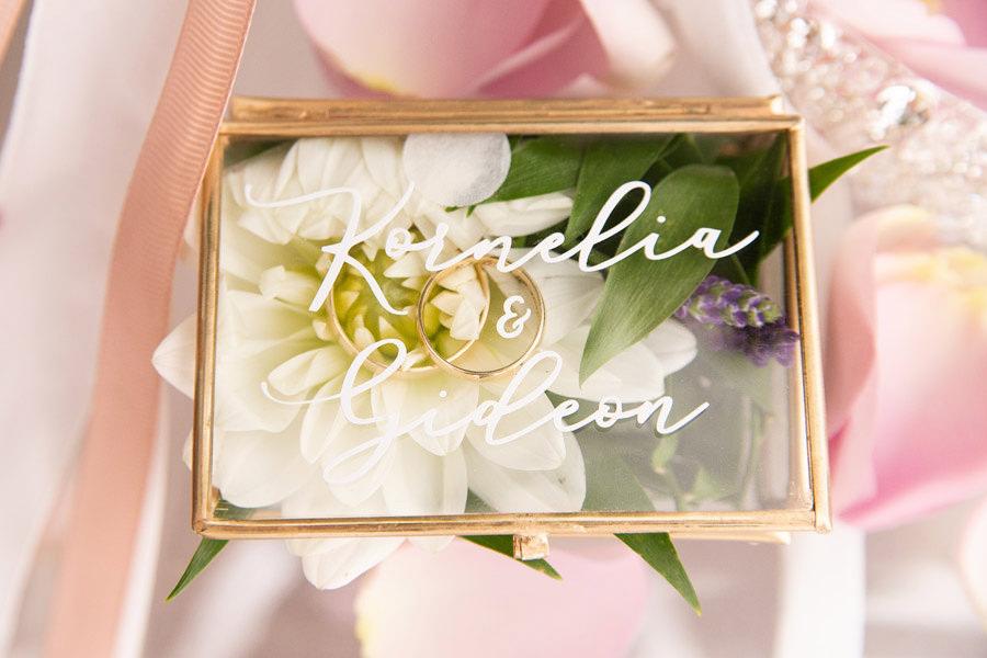 pudełko na obrączki inspiracje ślubne
