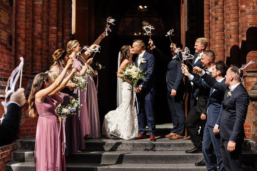 kasia i tomek fotograf ślub w kościele szczecin reportaż
