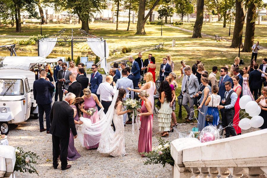 eleganckie wesele w szczecinie pałac rajkowo