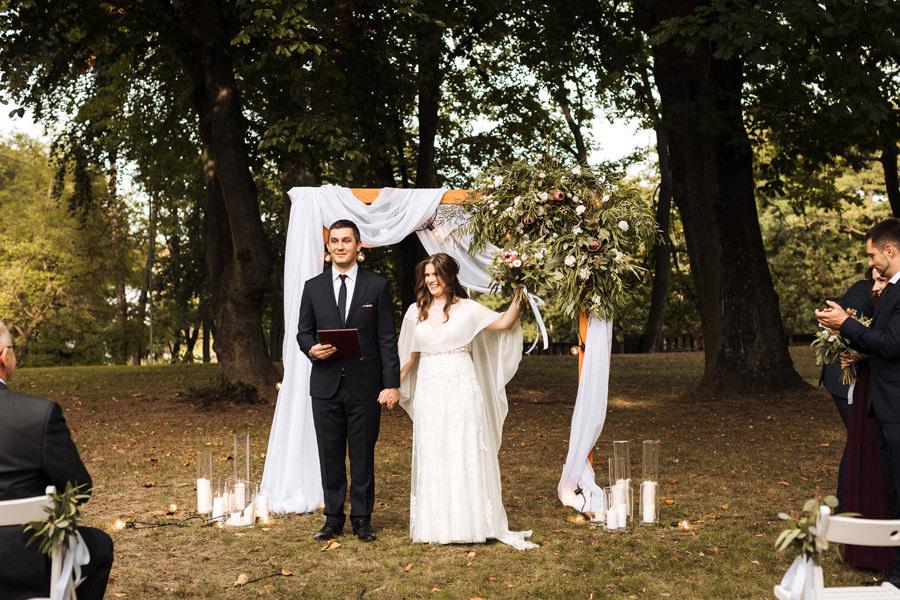 ślub plenerowy w centrum szczecin matejki 8 zdjęcia