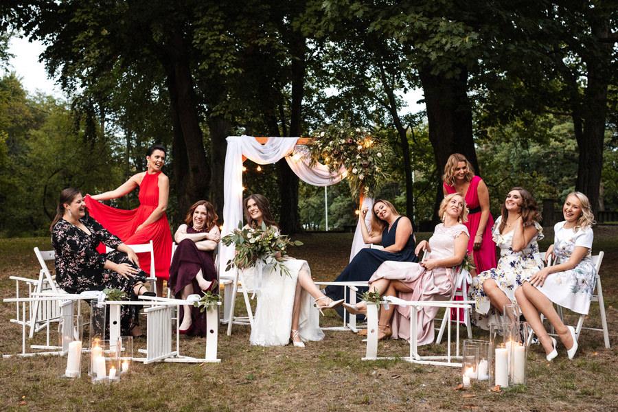 matejki 8 szczecin wesele w plenerze panna młoda i druhny